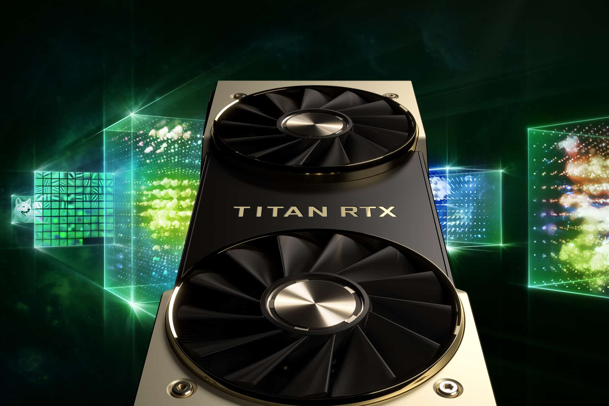 Titan RTX graphics card close-up.