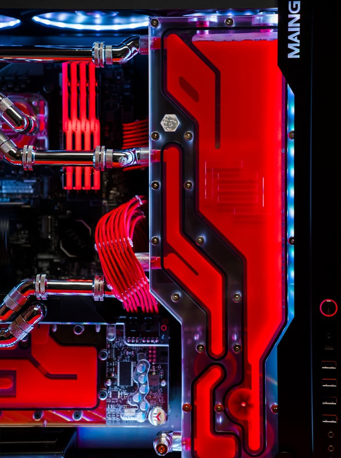 The maingear f131 with Apex hardline tubing