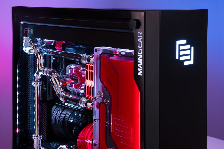 A Maingear F131 PC with Apex liquid cooling.